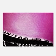Roller Coaster in Pink Postcards (Package of 8)