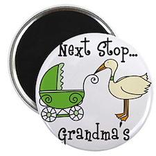 Next Stop Grandmas Magnet