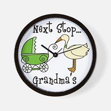 Next Stop Grandmas Wall Clock