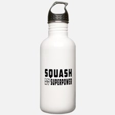 Squash Is My Superpower Water Bottle