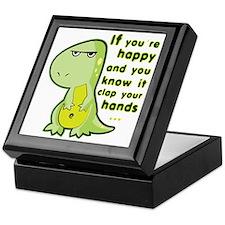 T-rex hands Keepsake Box