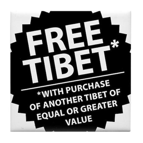 Free Tibet* Tile Coaster
