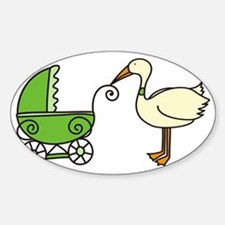 Stork With Stroller Decal