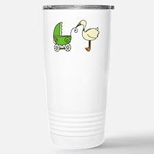 Stork With Stroller Travel Mug
