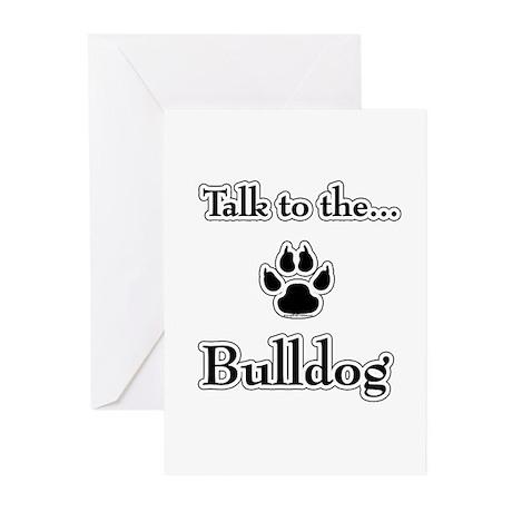 Bulldog Talk Greeting Cards (Pk of 10)