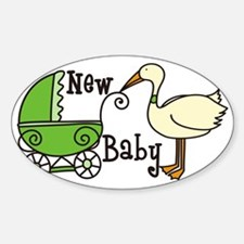 New Baby Sticker (Oval)