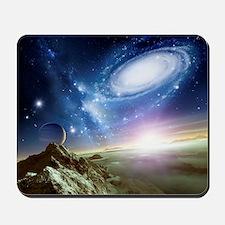 Colliding galaxies, artwork Mousepad