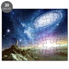 Colliding galaxies, artwork Puzzle