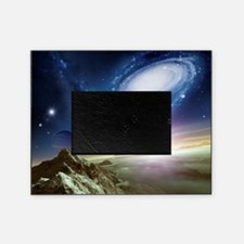Colliding galaxies, artwork Picture Frame