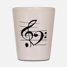 Music heart Shot Glass