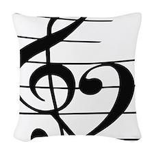 Music heart Woven Throw Pillow