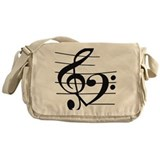 Music notes Canvas Messenger Bags