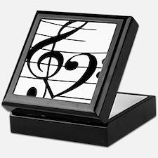 Music heart Keepsake Box