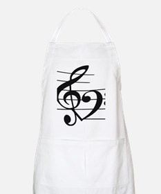 Music heart Apron