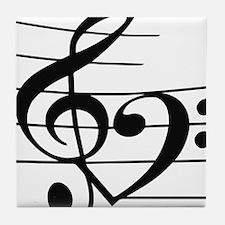 Music heart Tile Coaster