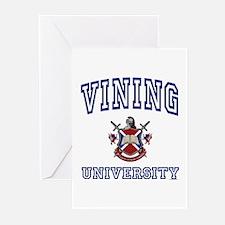 VINING University Greeting Cards (Pk of 10)