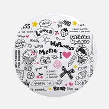 Images and Words Round Ornament