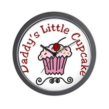 Daddys Little Cupcake Wall Clock