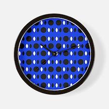 Cobalt Blue Perception Designer Wall Clock