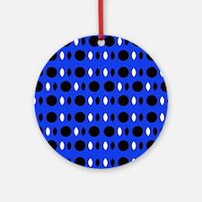 Cobalt Blue Perception Designer Round Ornament