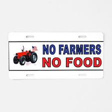 NO FARMERS FOOD Aluminum License Plate