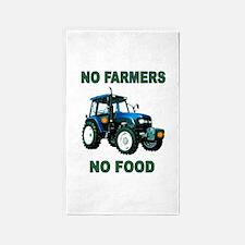 NO FARMERS FOOD 3'x5' Area Rug