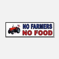 NO FARMERS FOOD Car Magnet 10 X 3