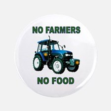 NO FARMERS FOOD 3.5&Quot; Button (100 Pack)