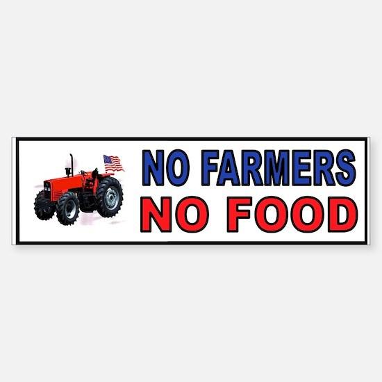 NO FARMERS FOOD Bumper Bumper Bumper Sticker