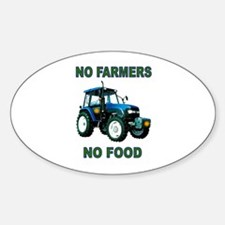NO FARMERS FOOD Decal