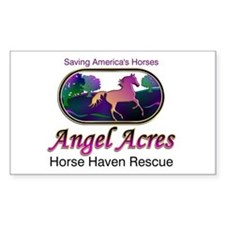 Angel Acres Horse Haven Rescue Sticker (Rect.)