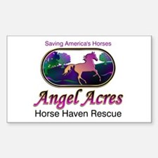 Angel Acres Horse Haven Rescue Sticker (Rect.)