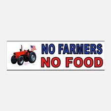 NO FARMERS FOOD Wall Decal