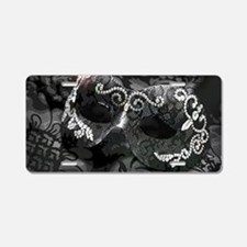 Dazzling Midnight Masquerad Aluminum License Plate
