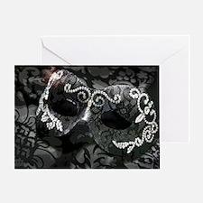 Dazzling Midnight Masquerade Greeting Card