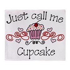 Just Call Me Cupcake Throw Blanket