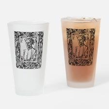 Dante Alighieri, Italian poet Drinking Glass