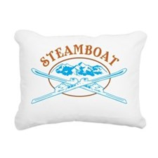 Steamboat Ski Cross Badg Rectangular Canvas Pillow