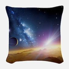 Extrasolar gas giant planet, a Woven Throw Pillow