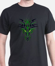 Two Toned Green Dragon T-Shirt