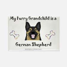 german shepherd Rectangle Magnet