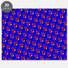 Blue Red Cute Lobster Designer Puzzle