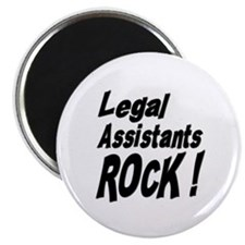 "Legal Assistants Rock ! 2.25"" Magnet (100 pack)"