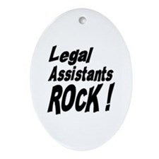 Legal Assistants Rock ! Oval Ornament