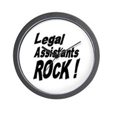 Legal Assistants Rock ! Wall Clock