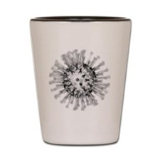 H1N1 flu virus particle, artwork Shot Glass