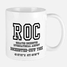 AIRPORT CODES - ROC - GREATER ROCHESTER, NEW Mugs