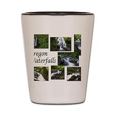 Oregon Waterfalls Shot Glass