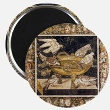 Doves on a drinking vessel, Roman mosaic Magnet
