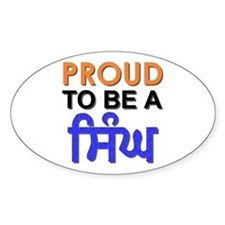 Proud to be a Singh Oval Decal